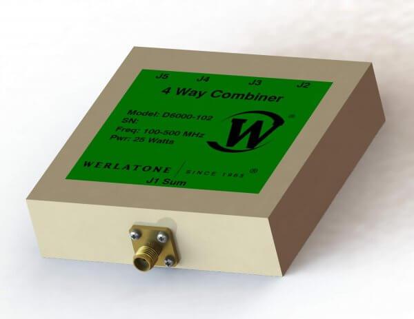 RF Combiner - Model D6000 - 4-Way Combiner/Divider