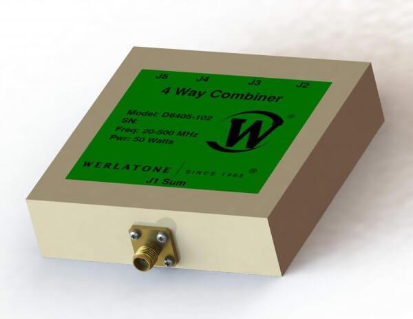 RF Combiner - Model D6405 - 4-Way Combiner/Divider
