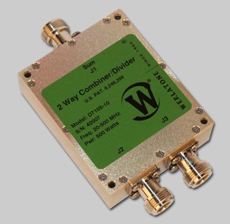 RF Combiner - Model D7105 - 2-Way Combiner/Divider