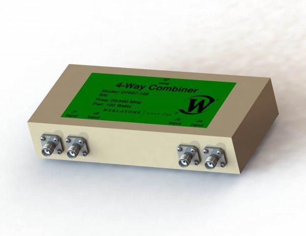 RF Combiner - Model D7587 - 4-Way Combiner/Divider