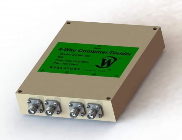 RF Combiner - Model D7695 - 4-Way Combiner/Divider