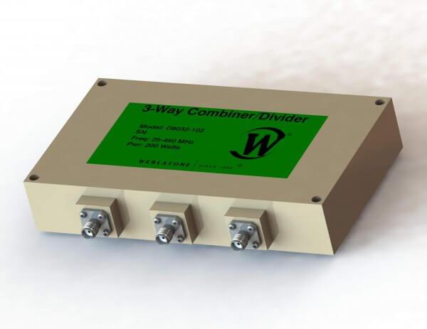 RF Combiner - Model D8032 - 3-Way Combiner/Divider