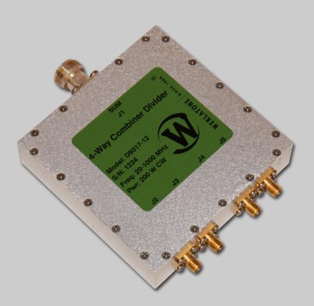 RF Combiner - Model D9317 - 4-Way Combiner/Divider