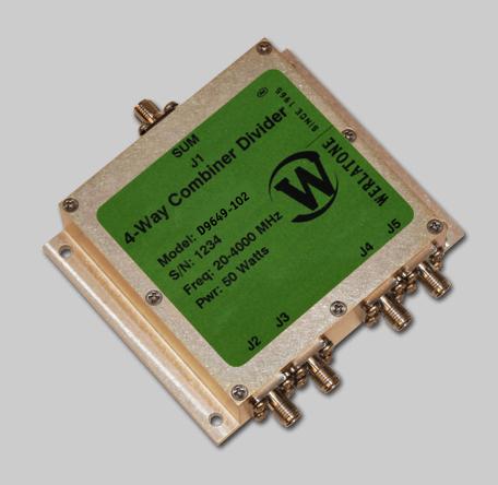 RF Combiner - Model D9649 - 4-Way Combiner/Divider